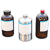 Glass bottle / stainless container for electrolyte for lithium batteries(1L)